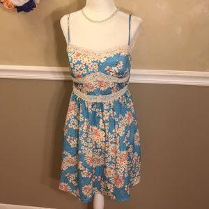 Three Pink Hearts Trixxi crochet trim floral dress